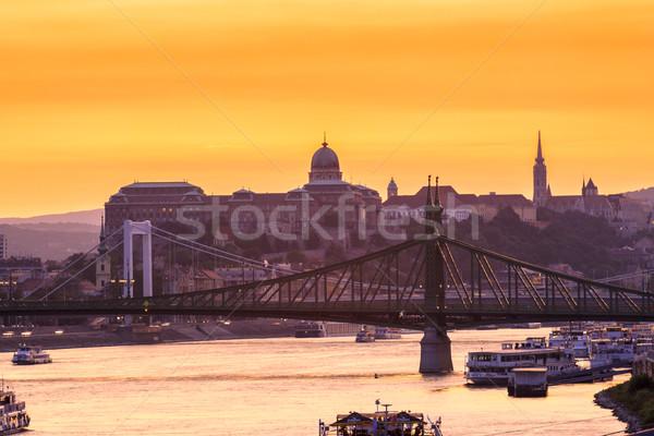 Night view of Budapest Stock photo © Fesus