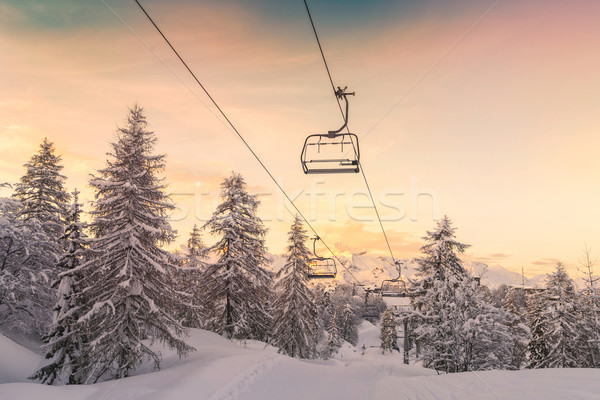 Esquiar centro alpes Eslovenia naturalismo parque Foto stock © Fesus