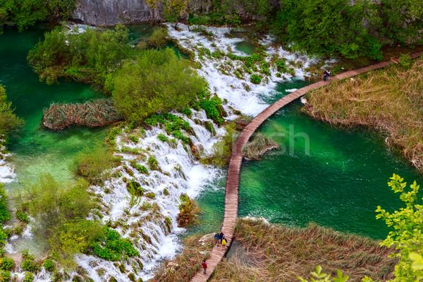 Waterfalls in Plitvice National Park Stock photo © Fesus