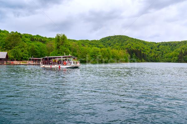 フェリー ボート 桟橋 クロアチア 水 木材 ストックフォト © Fesus