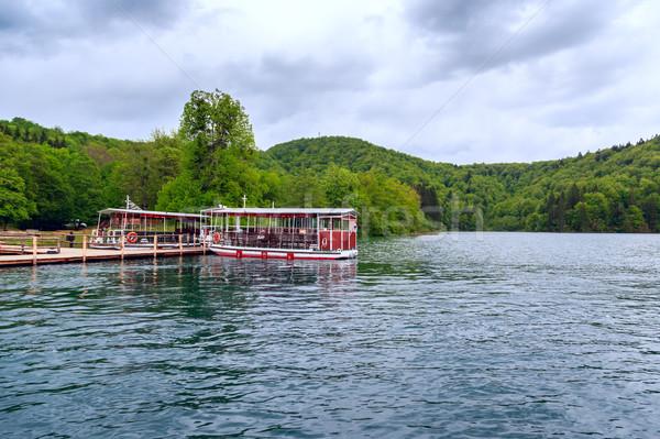 Pont boten pier Kroatië water hout Stockfoto © Fesus
