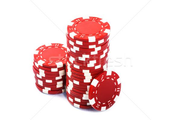 Poker chips bianco gruppo finanziare casino nero Foto d'archivio © Fesus