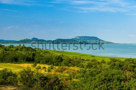 Tájkép · tó · Balaton · nyár · Magyarország · víz - stock fotó ...