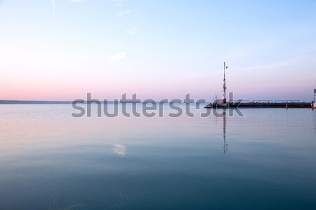 Nice sunrise at lake Balaton Stock photo © Fesus