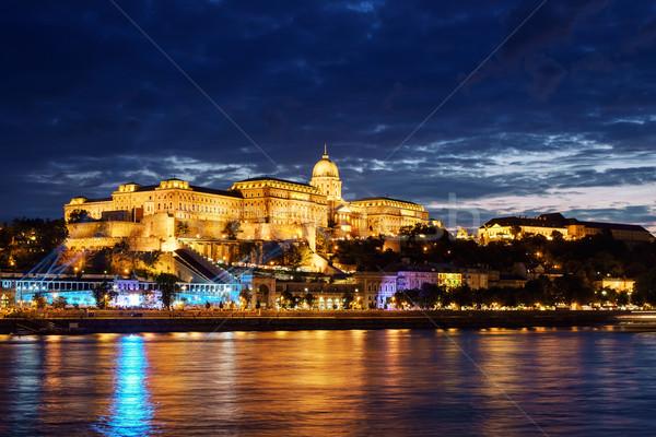 Будапешт замок закат Венгрия Дунай реке Сток-фото © Fesus