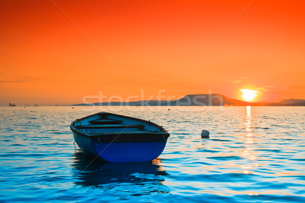 Sunset lake Stock photo © Fesus