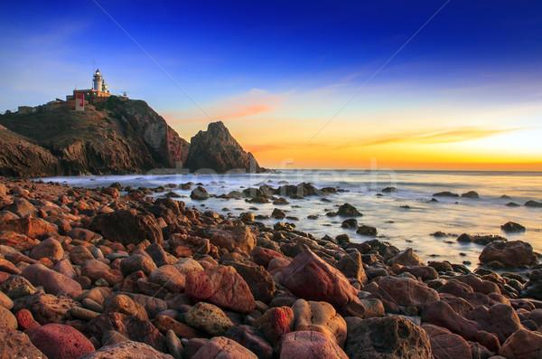 ストックフォト: 日没 · 海岸 · 自然 · 公園 · 水 · 雲