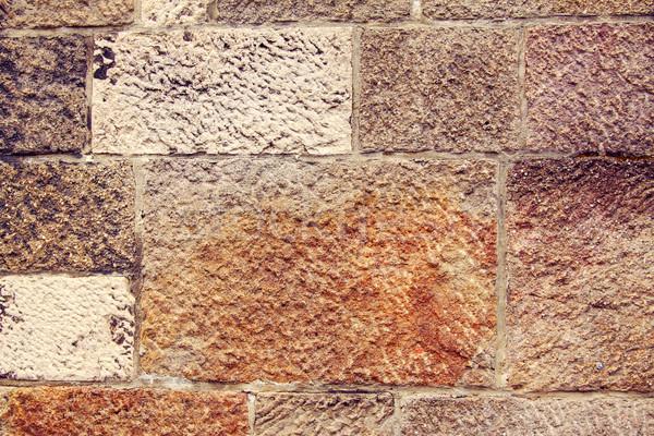 Taş duvar doku soyut arka plan kaya taş Stok fotoğraf © Fesus