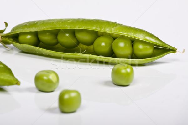 エンドウ 食品 緑 市場 食べ 白 ストックフォト © Fesus