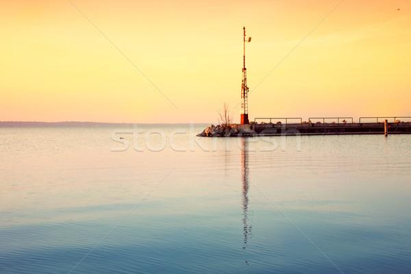 Nice Восход озеро Балатон Венгрия воды Сток-фото © Fesus