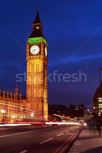 большой Бен ночь Лондон домах парламент небе Сток-фото © Fesus