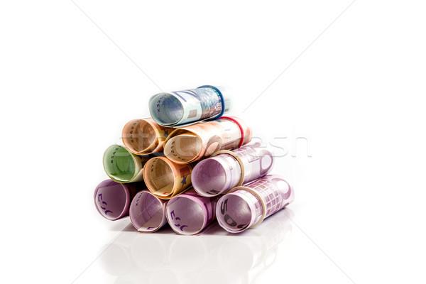 Omhoog euro geld papier Stockfoto © Fesus