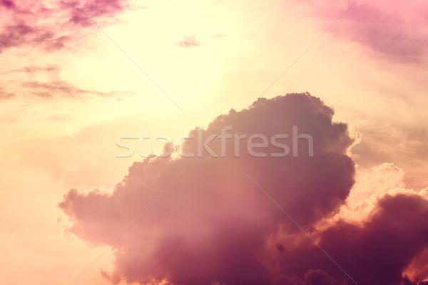 Cielo nubes sol vintage estilo puesta de sol Foto stock © Fesus