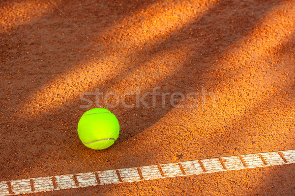 Tennis ball on a tennis court Stock photo © Fesus