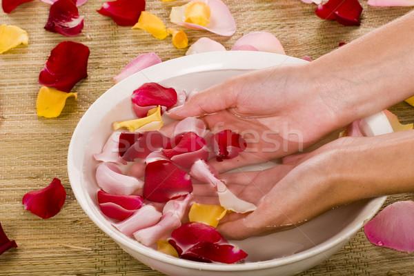 Bodycare of hands  Stock photo © Fesus