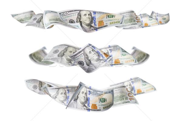 Set of Three One Hundred Dollar Bill Horizontal Graphic Photos Stock photo © feverpitch