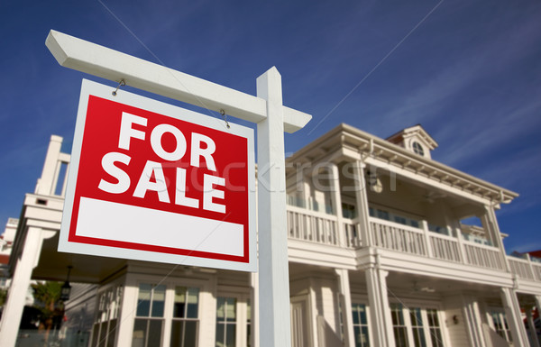 Home For Sale Sign & New Home Stock photo © feverpitch