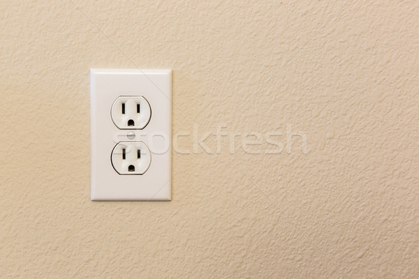 Electrical Sockets In The Wall Stock photo © feverpitch