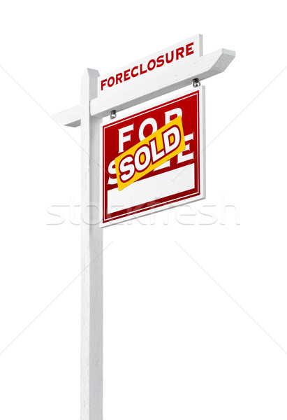 Forclusion vente immobilier Photo stock © feverpitch