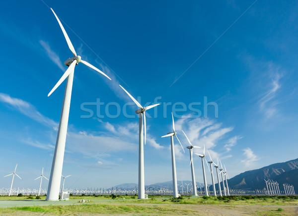 劇的な 風力タービン ファーム 砂漠 カリフォルニア 空 ストックフォト © feverpitch