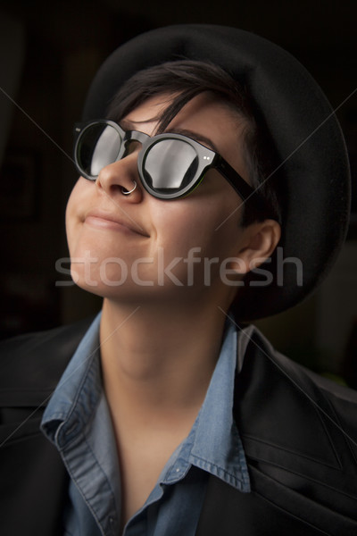 Ethnic Mixed Girl Wearing Sunglasses Stock photo © feverpitch