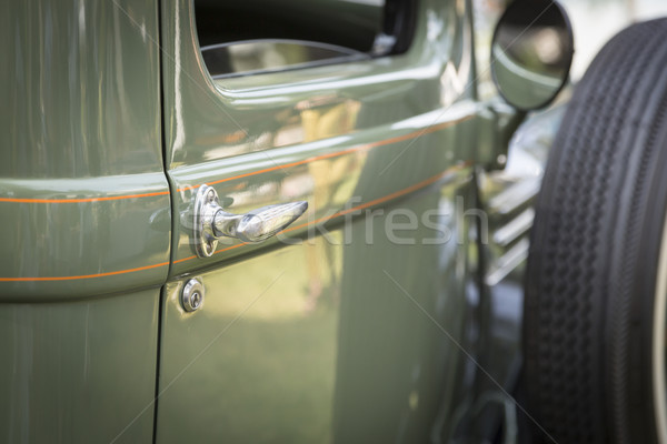 Stockfoto: Detail · abstract · oldtimer · deur · behandelen · mooie