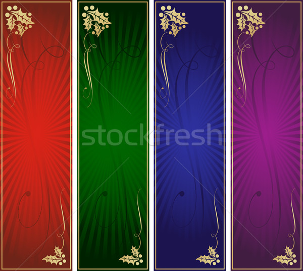 Skyscraper Christmas Banner Ad Template Set Stock photo © feverpitch