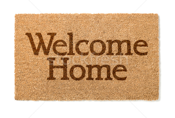 Welcome Home Mat On White Stock photo © feverpitch