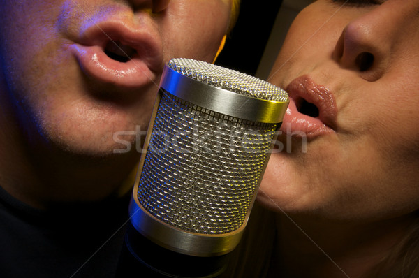 Couple Singing Duet Stock photo © feverpitch