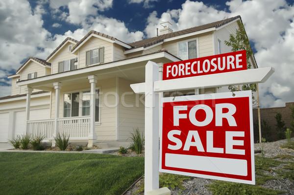 Zálogjog érvényesítése otthon vásár felirat ház új ház Stock fotó © feverpitch