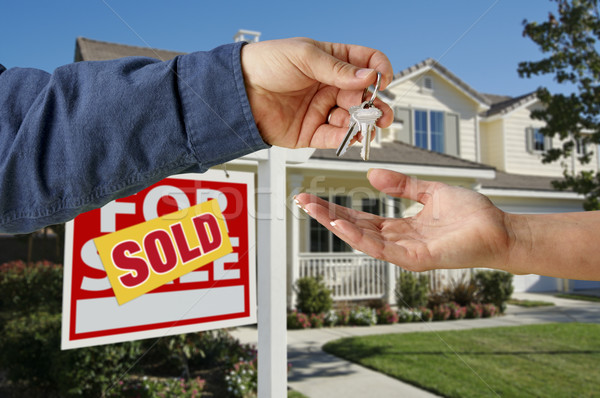 Handing Over the Keys to A New Home Stock photo © feverpitch