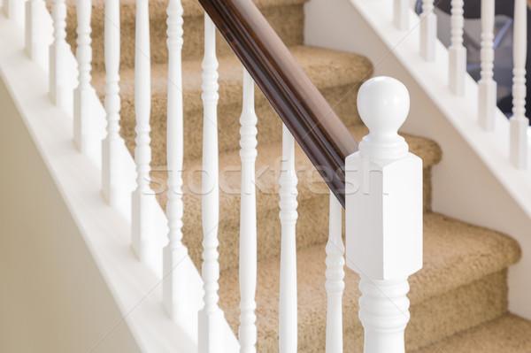 Absztrakt lépcső korlát lépcső ház gyönyörű Stock fotó © feverpitch