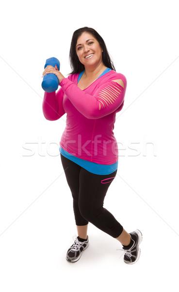 Foto d'archivio: Ispanico · donna · allenamento · vestiti