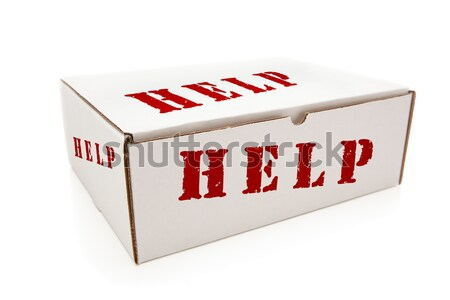 Stock photo: White Box with Hope on Sides Isolated