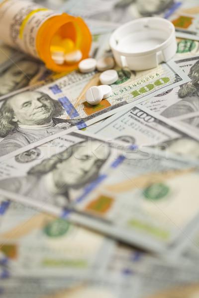 Médecine pilules nouvellement une cent dollar Photo stock © feverpitch