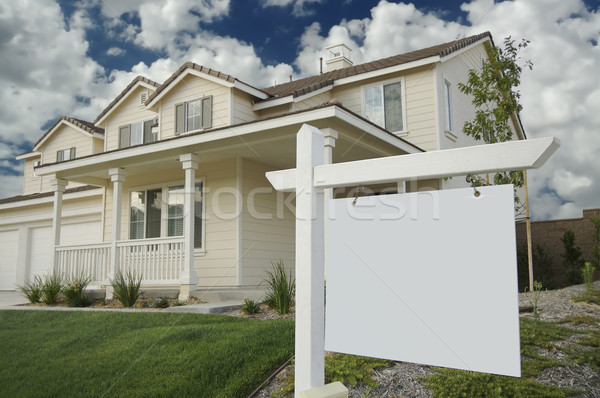 Blank Real Estate Sign & New Home Stock photo © feverpitch