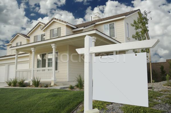 Photo stock: Immobilier · signe · nouvelle · maison · prêt · propre · un · message