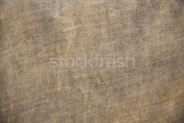Rustic Old Fabric Burlap Texture Background Stock photo © feverpitch
