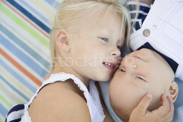 姉妹 赤ちゃん 弟 ストックフォト © feverpitch
