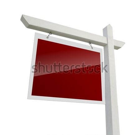 Stockfoto: Rood · onroerend · teken · witte · geïsoleerd