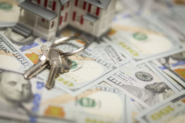 House and Keys on Newly Designed One Hundred Dollar Bills Stock photo © feverpitch