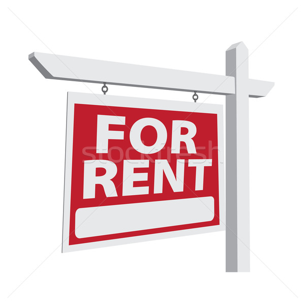 For Rent Vector Real Estate Sign Stock photo © feverpitch