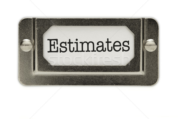 Estimates File Drawer Label Stock photo © feverpitch