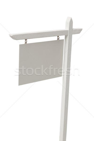 Zdjęcia stock: Nieruchomości · podpisania · biały · odizolowany · sukces