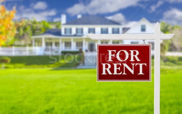 Foto stock: Alugar · imóveis · assinar · casa · vermelho · belo
