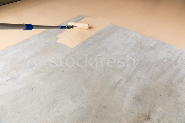 Painting Floor of Garage Stock photo © feverpitch