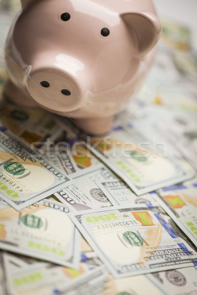Persely újonnan egy száz dollár bankjegyek üzlet Stock fotó © feverpitch