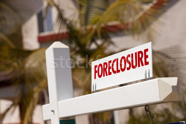 Close-up Foreclosure Real Estate Sign Stock photo © feverpitch