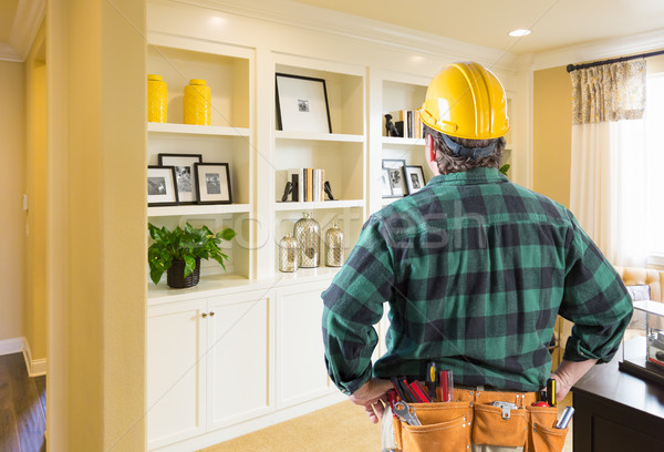 Contractor Facing Custom Built-in Shelves and Cabinets Wall Stock photo © feverpitch