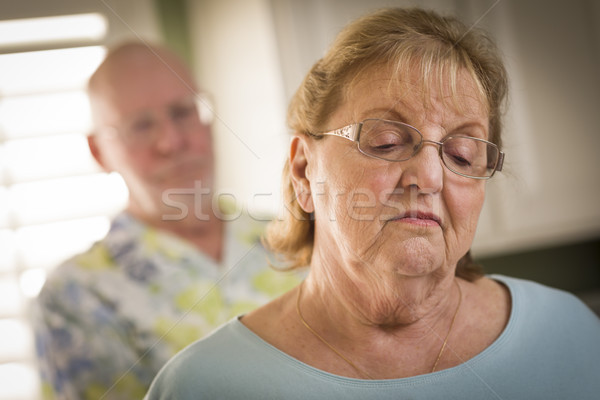 Senior Adult Couple in Dispute or Consoling Stock photo © feverpitch
